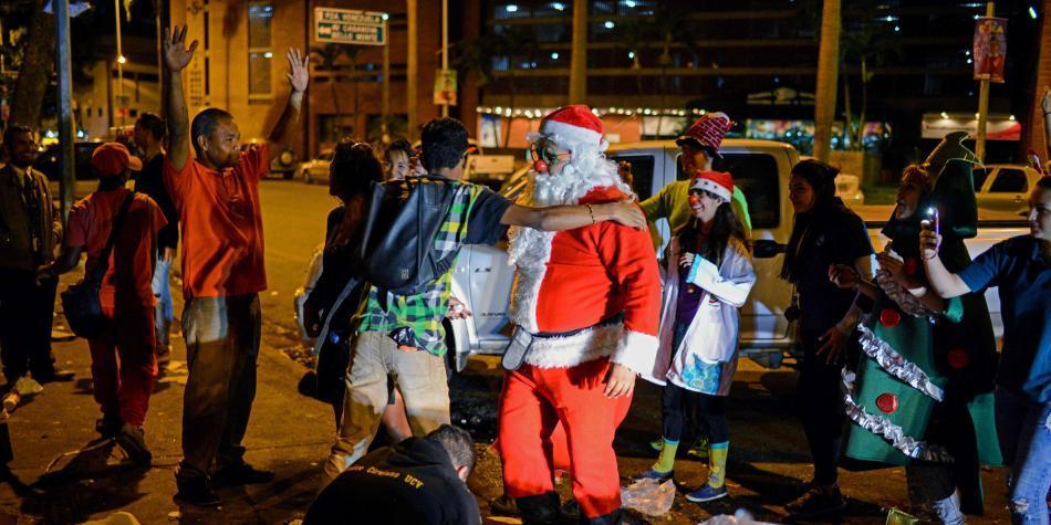 Navidad de indigentes en Caracas