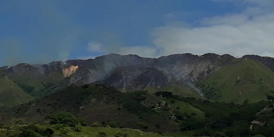 Incendio forestal en el Huila