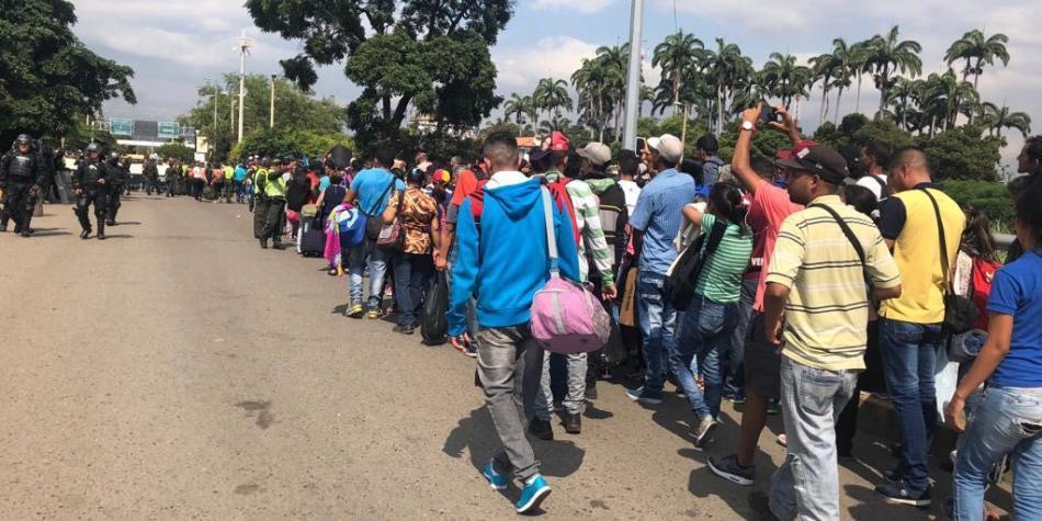 Venezolanos que llegan a Colombia