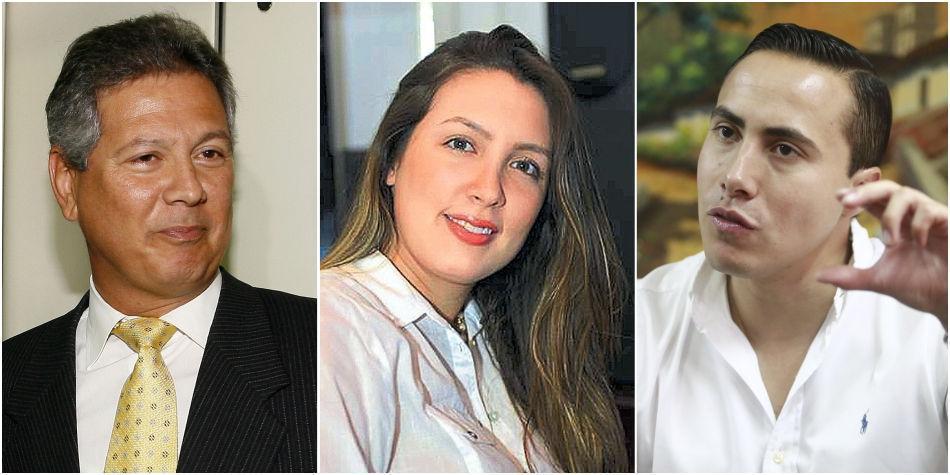 Antonio Guerra de la Espriella, Sara Piedrahíta Lyons y Richard Aguilar
