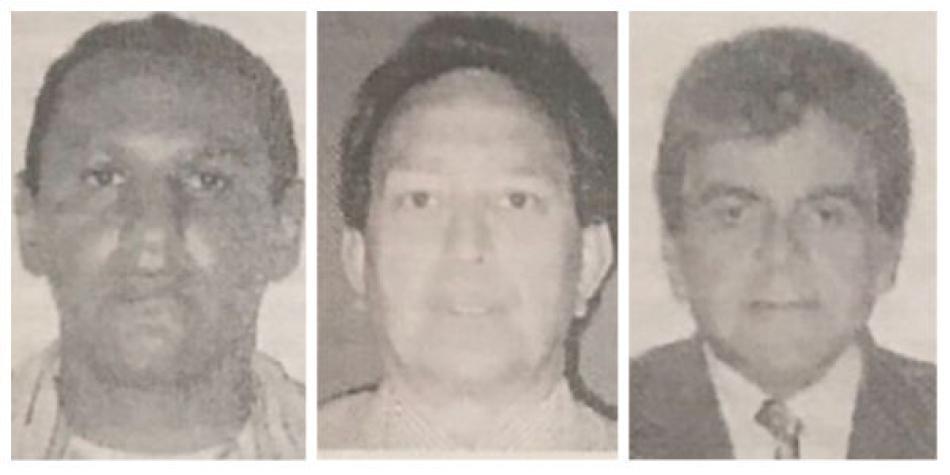 Los tres capturados con Jesús Santrich