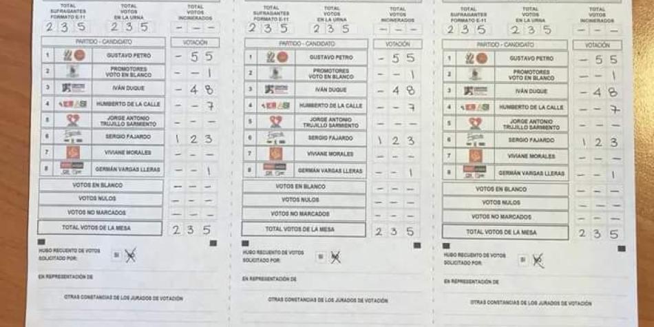 Est N Filtrando Resultados De Elecciones En El Exterior Presidenciales Elecciones Colombia