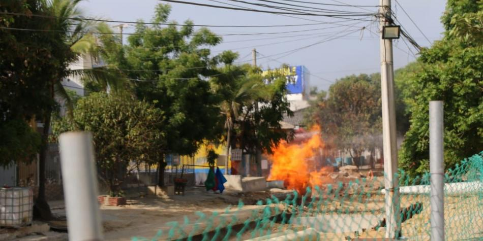 incendio en el barrio recreo