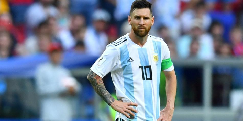 Messi en el partido contra Francia