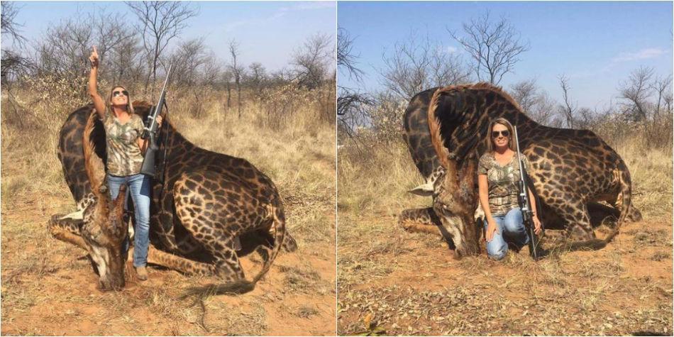 c32be6f8707 Foto de mujer que mató a jirafa negra en África - África ...