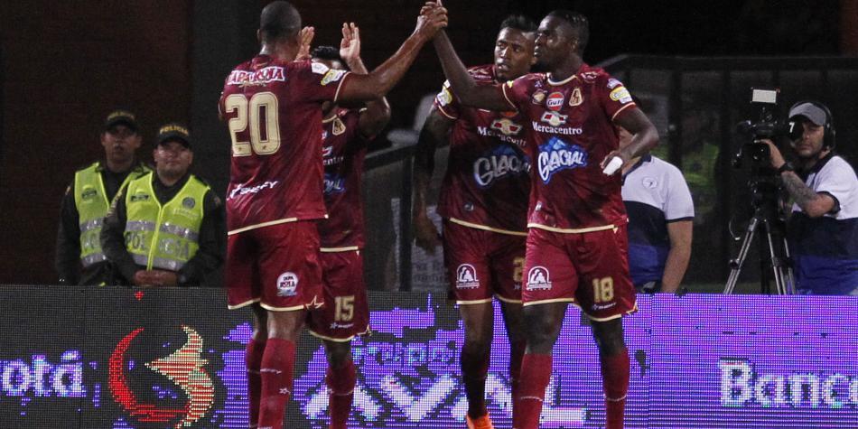 Esta fue el discutido penalti del empate del Tolima frente a Nacional