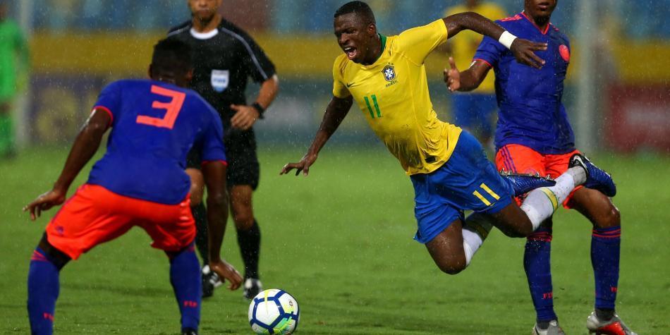 Resultado de imagen para colombia vs brasil sub 20