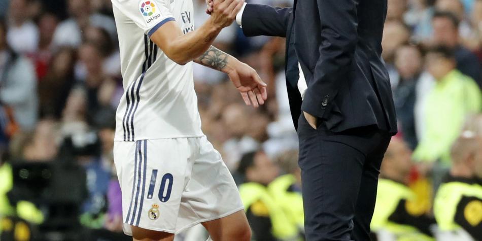 Zinedine Zidane habló de la situación de James Rodríguez