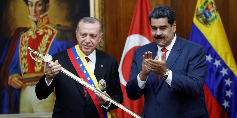 Recep Tayyip Erdogan y Nicolás Maduro