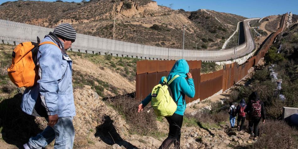 Inmigrantes en la frontera con Estados Unidos
