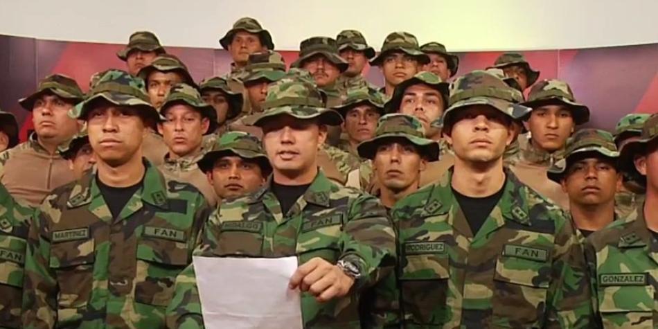 Grupo de militares venezolanos desconocieron a Nicolás Maduro