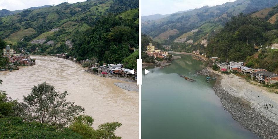 Resultado de imagen para rio cauca antes de hidroituango