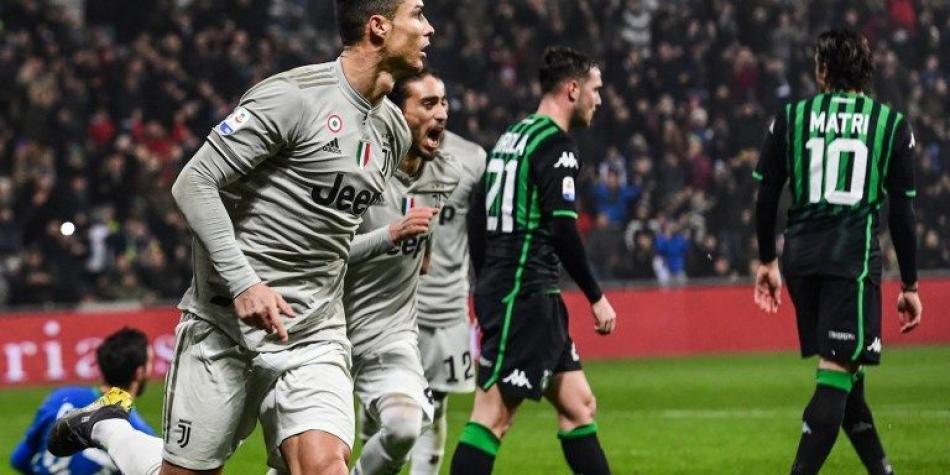 Gol de Cristiano Ronaldo en el triunfo de Juventus 3-0 al Sassuolo