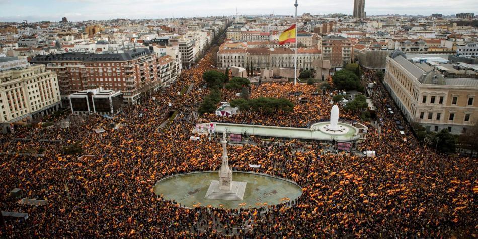 Los independentistas catalanes comienzan a ser juzgados en Madrid