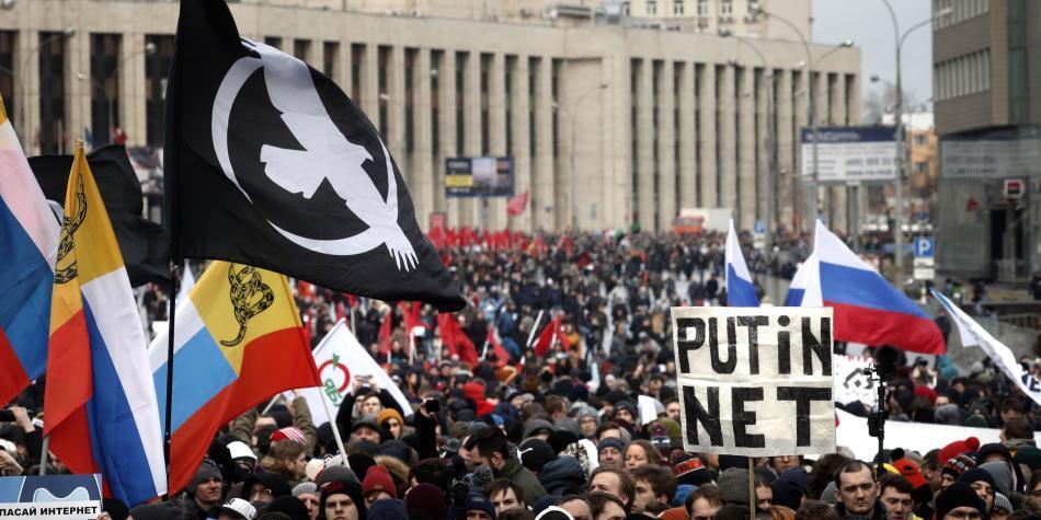 Protestas en Rusia por restricciones en internet