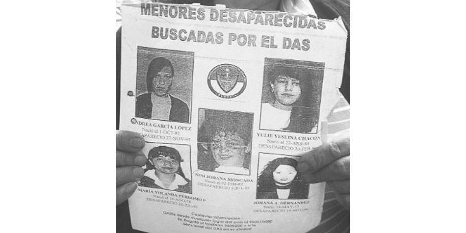 Sin rastro de cinco niñas desaparecidas hace 23 años en Suba
