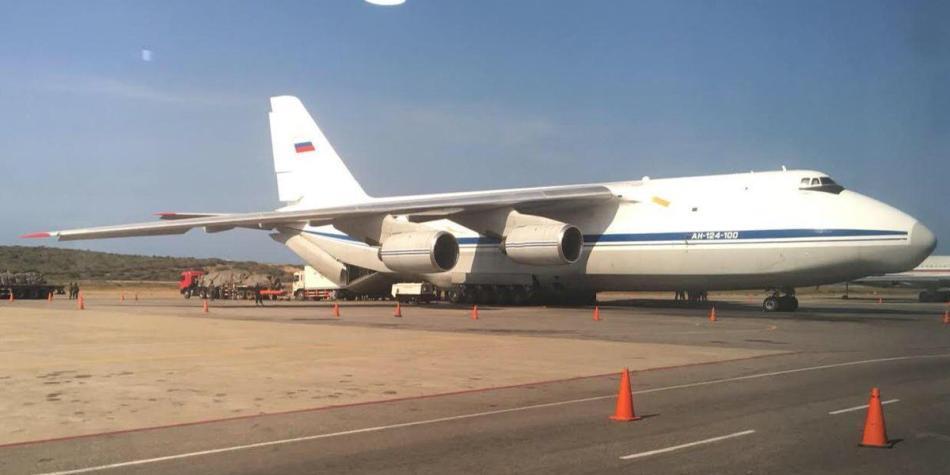 Aviones rusos en Venezuela