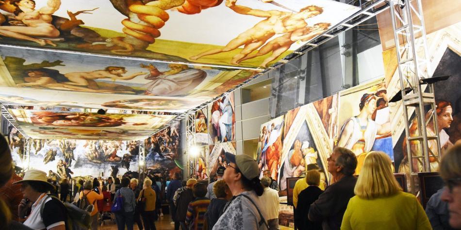 Las pinturas de Miguel Ángel adquieren movimiento
