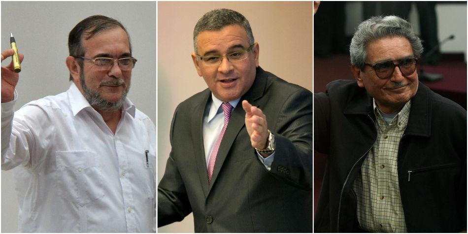 Rodrigo Londoño, Mauricio Funes y Abimael Guzmán