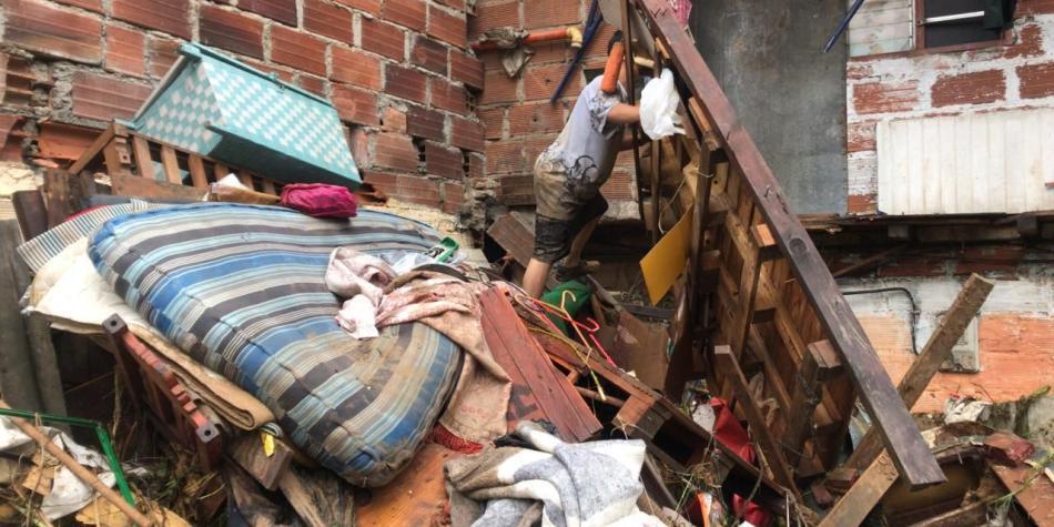 Más de 50 casas se vieron afectadas por lluvias en Caldas