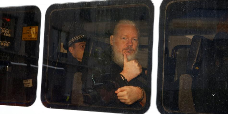 Las imágenes de Julian Assange dentro de la Embajada ecuatoriana
