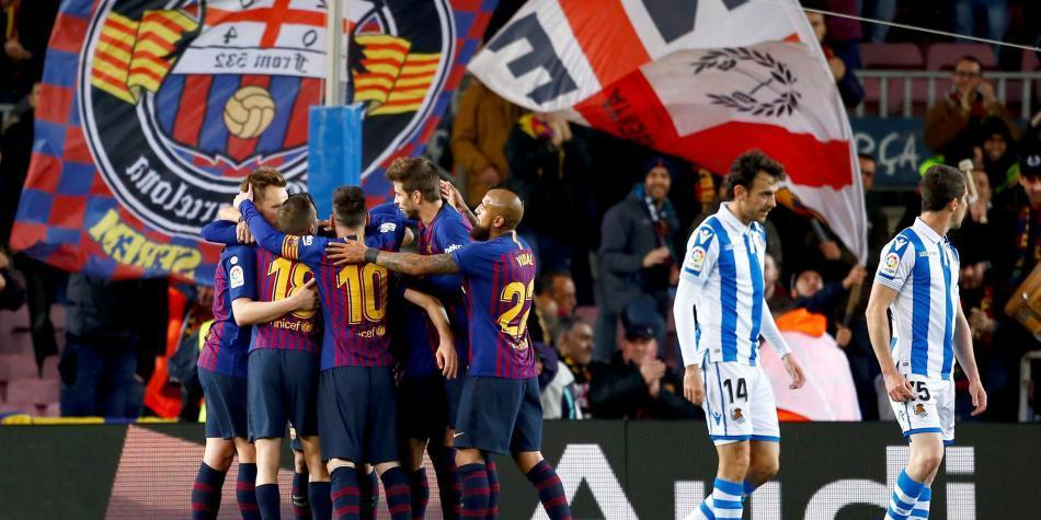 Barcelona, rumbo a un nuevo título de Liga: venció 2-1 a Real Sociedad