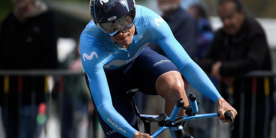 Betancur salvó una caída y terminó undécimo en la Vuelta a Burgos