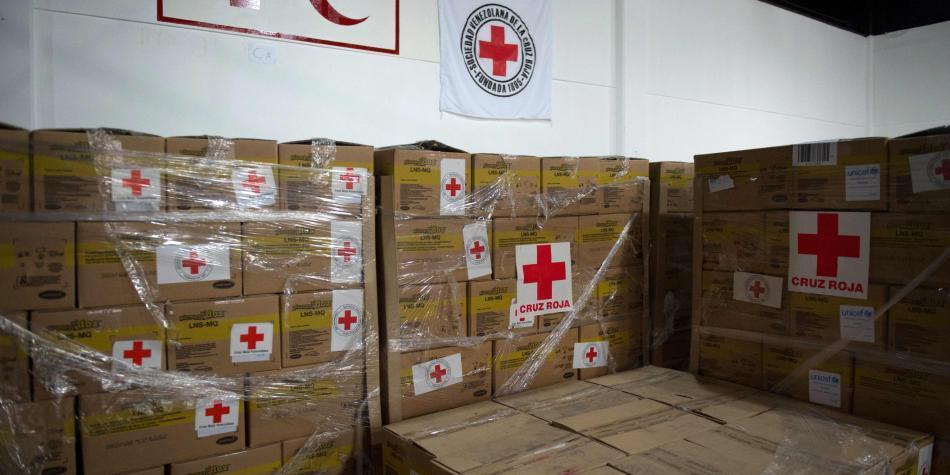 La Cruz Roja todavía no reparte la ayuda humanitaria en Venezuela