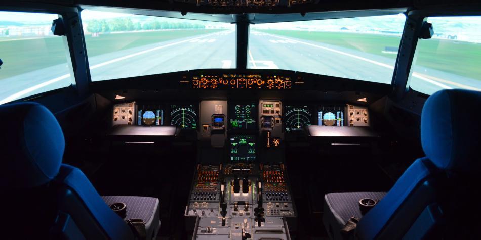 'Volamos' un A320 a bordo de un simulador