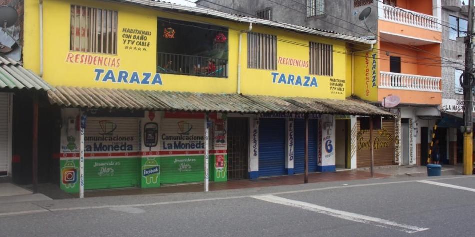 En Tarazá (Antioquia) la violencia paralizó el comercio