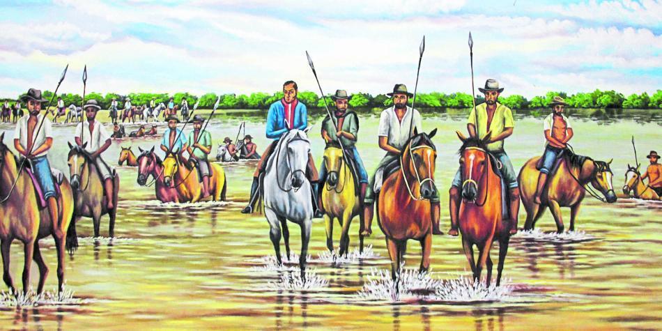 Resultado de imagen para bolivar cruza el rio arauca