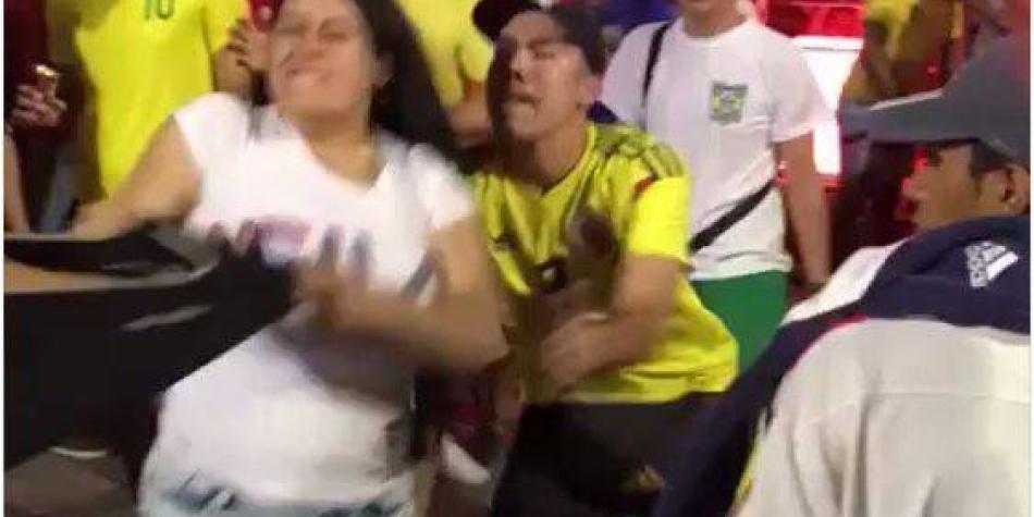 Otra vergüenza: colombianos armaron gresca en Brasil