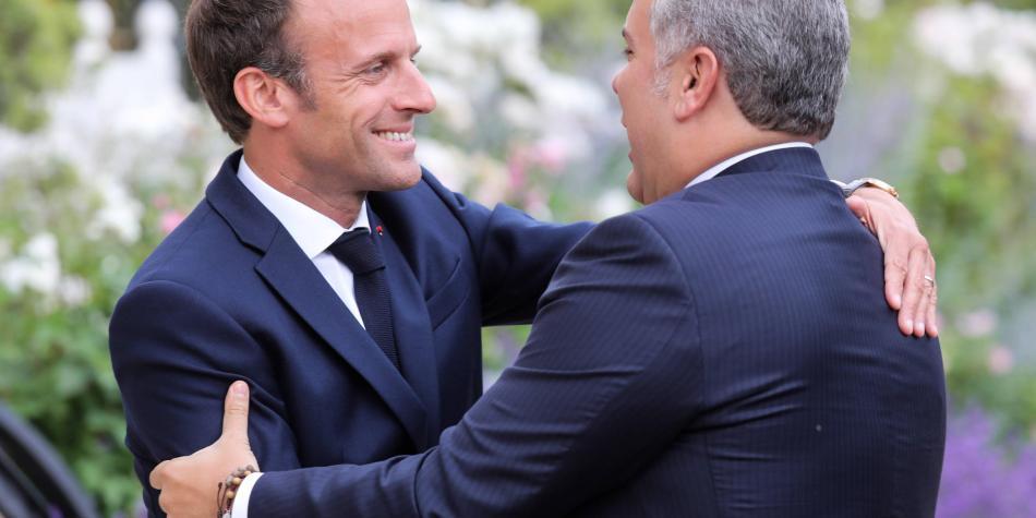 ¿Qué le dijo el mandatario de Francia al presidente Iván Duque?