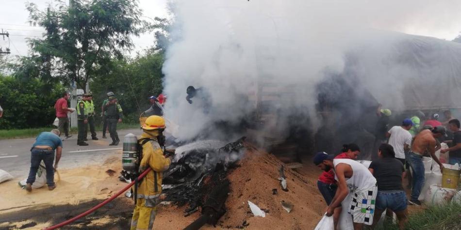 Muere quemada una persona en accidente en vía a Buenaventura