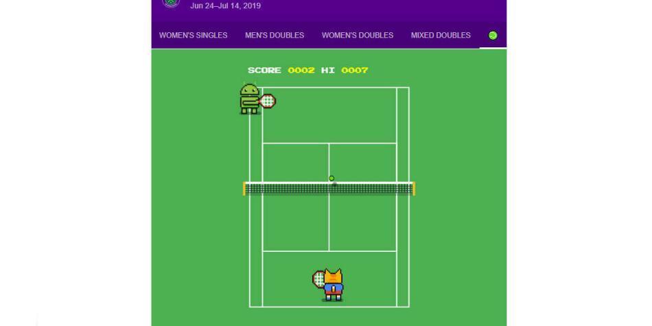 Prepárese para la final del Wimbledon con el 'juego oculto' de Google