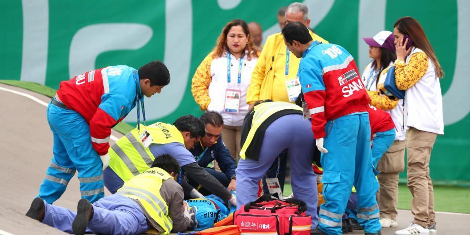 ¡Impactante! La caída de un ciclista colombiano en los Panamericanos