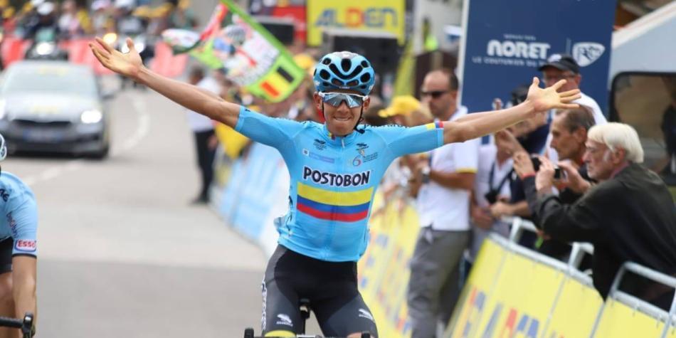 Colombiano Tejada gana la séptima etapa del Tour de l'Avenir