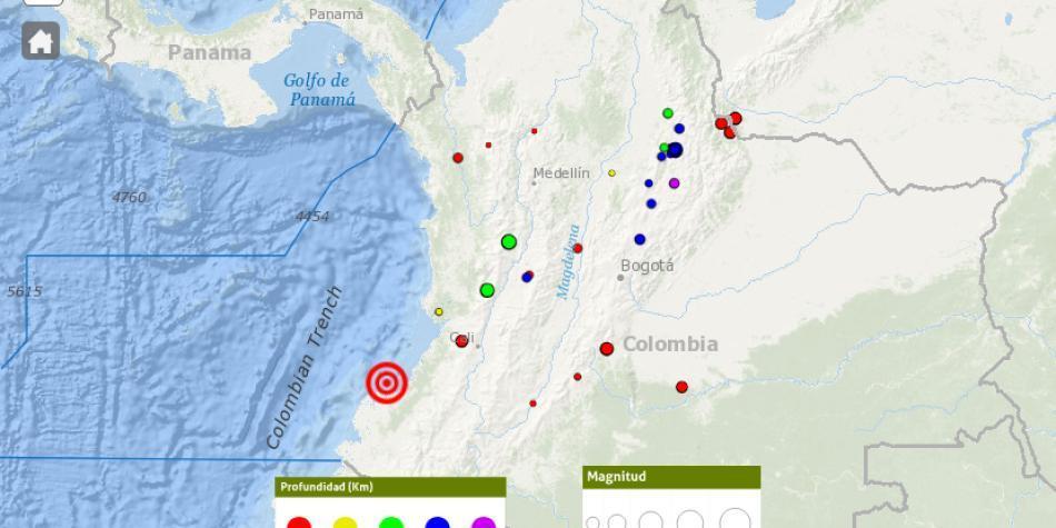 Temblor se sintió el domingo en Nariño, Cauca y Valle del Cauca