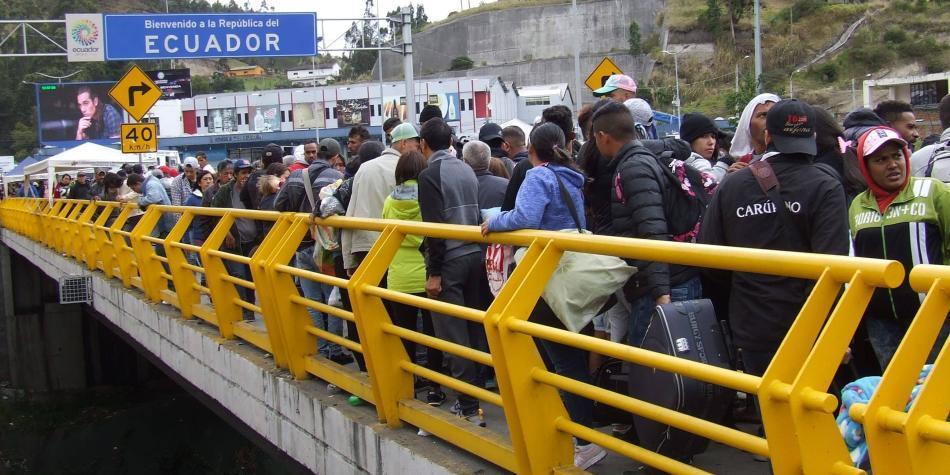 Frontera de Ecuador y Perú, con alto flujo de venezolanos