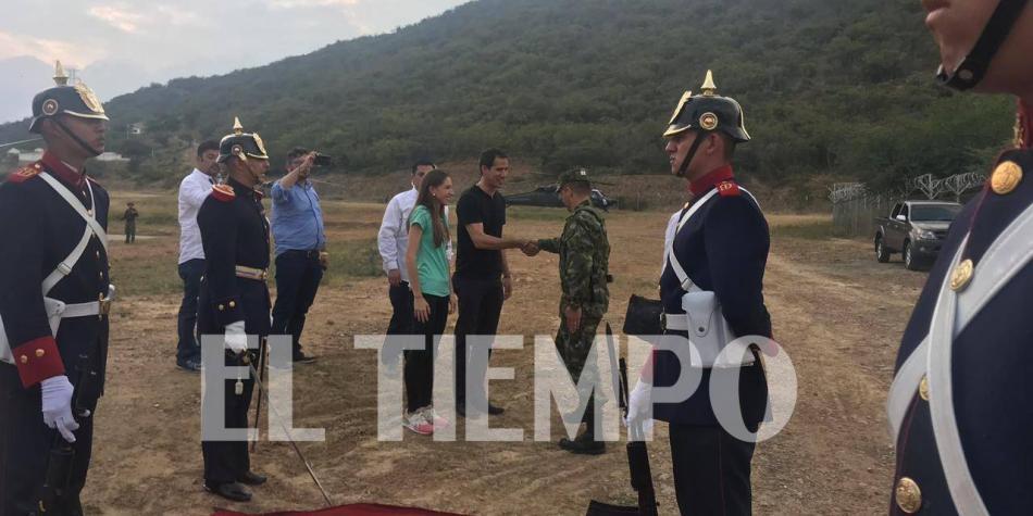 Recibimiento a Guaidó en la frontera