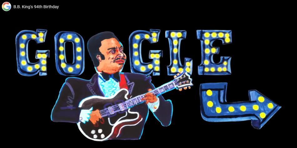 B.B. King, el rey del blues, es el homenajeado del Doodle de hoy