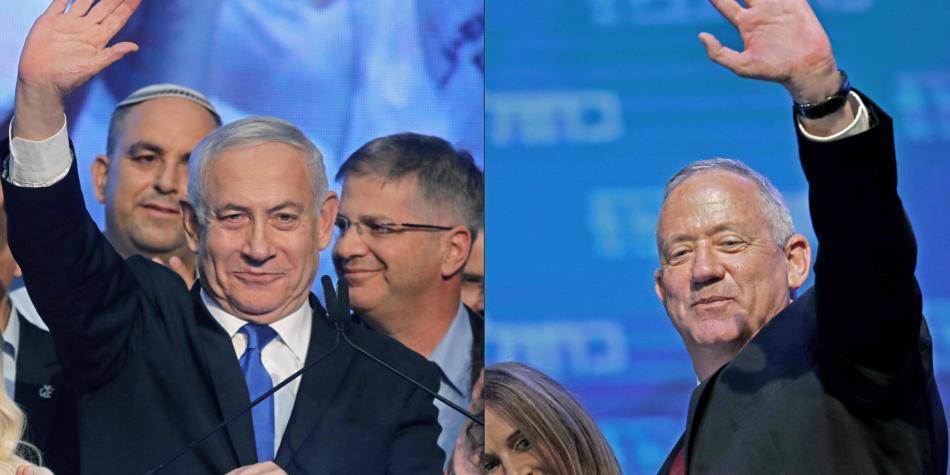 Gantz aventaja a Netanyahu faltando por contar 10 % de votos en Israel