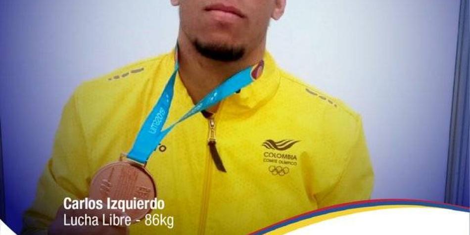 Luchador Carlos Izquierdo, cupo 12 de Colombia a Olímpicos 2020