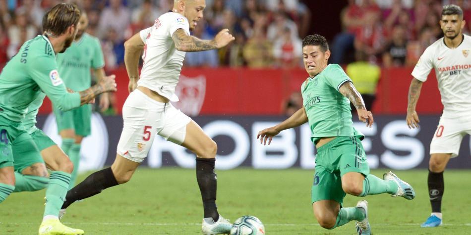 James, vital en el triunfo del Real Madrid 0-1 contra Sevilla