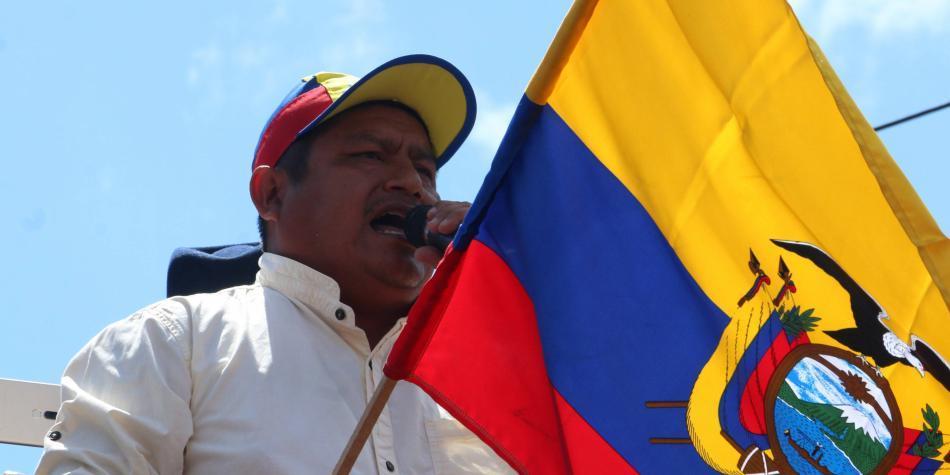 'El gobierno ecuatoriano no escucha': líder indígena