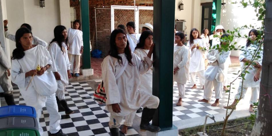 Con protesta, Koguis exigen reconocimiento legal del Cabildo Magdalena