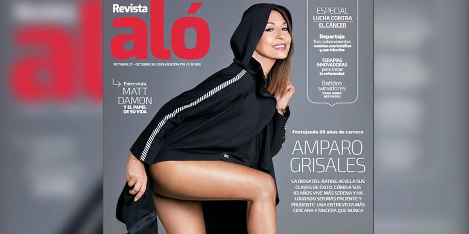 Amparo Grisales, diosa del 'rating', en la portada de la Revista ALÓ