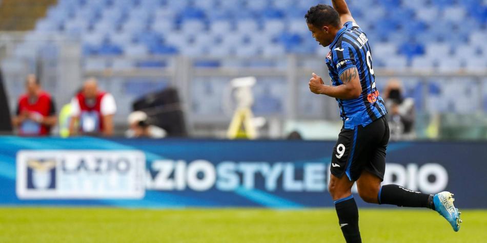 Muriel marcó dos golazos en el empate de Atalanta 3-3 con Lazio