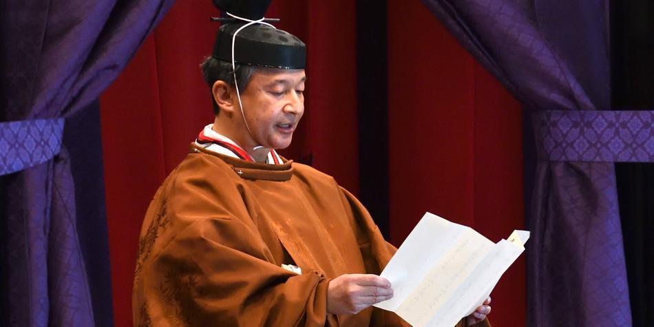 Nuevo emperador de Japón asciende formalmente al trono