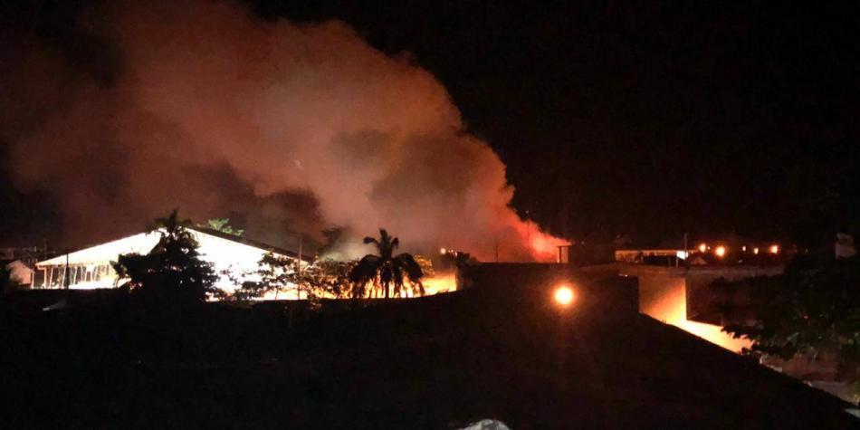 Incendio alcaldía Nechí